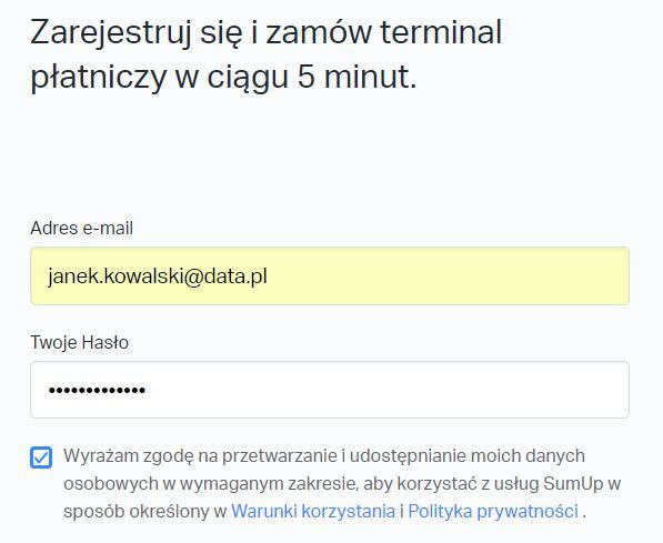 Jak zarejestrować konto i odebrać terminal płatniczy SumUp?