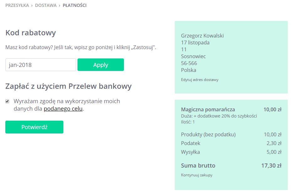 Click Web - Podgląd produktu - Dodaj do koszyka - Przesyłka - Dostawa - Płatności - Wybierz formę płatności