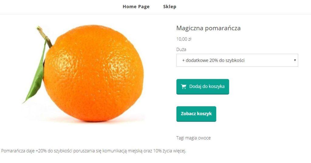 Click Web - Przykład poglądu produktu - Kliknij przycisk Dodaj do koszyka