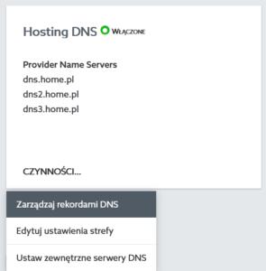 Zarządzaj rekordami DNS