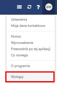Poczta home.pl - Zdjęcie profilowe - Kliknij przycisk Wyloguj
