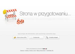 Komunikat strona w przygotowaniu na hostingu w home.pl, jak się go pozbyć?