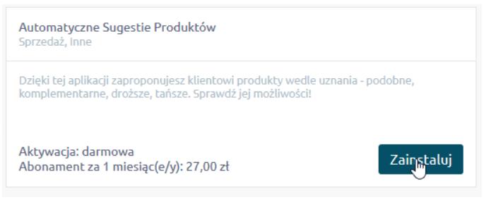 Aplikacja: Automatyczne Sugestie Produktów