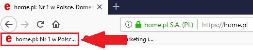 Przykładowy tytuł strony pojawiający się w nazwie zakładki w przeglądarce internetowej