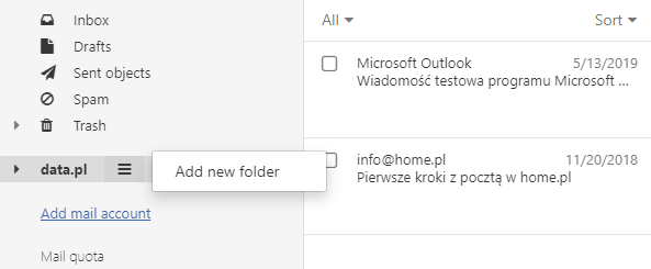 How do I move an e-mail message to a folder?