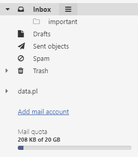 Mail home.pl - Inbox - The folder has been created
