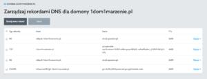 Add new domain record in Control Panel