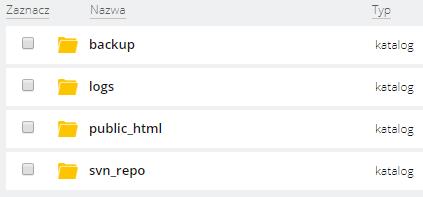 Panel klienta home.pl - Usługi WWW - Wybrany serwer - Konta FTP - Opcje - WebFTP - Przejdź do katalogu public_html