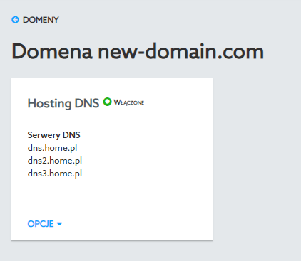 Domain DNS name servers.