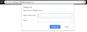 Logowanie do panelu phpMyAdmin - home.pl
