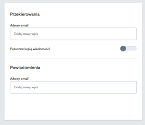 Email forwarding in the Home.pl Control Panel
