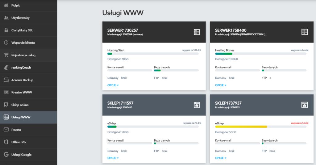 Zarządzanie podziałem pojemności na serwerze