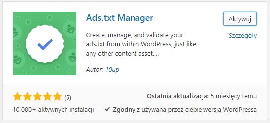 Dodawanie pliku ads.txt do CMS WordPress