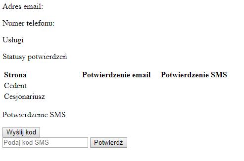 Potwierdzenie cesji elektronicznej w Panelu klienta home.pl