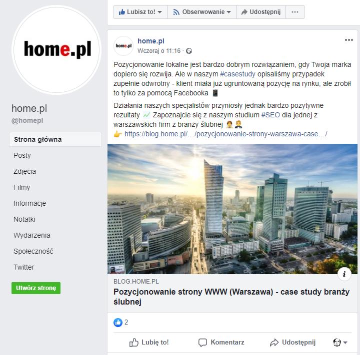 Facebook jednoczy Twoich klientów, ale buduje też grupy odbiorców.