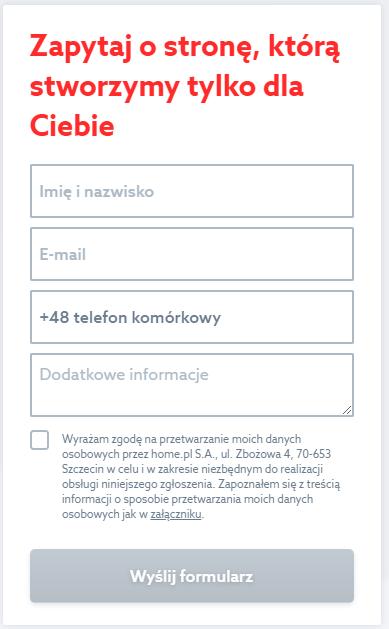 Skorzystaj z formularza kontaktowy, jeśli chcesz zamówić projekt strony WordPress.