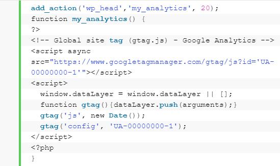 CMS WordPress - Dodawanie kodu śledzenia w plikach szablonu