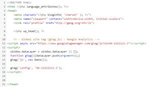 CMS WordPress - Dodawanie kodu śledzenia Google Analytics w szablonie strony