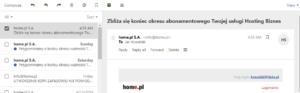 How do I check the e-mail header?