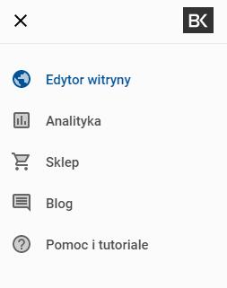 Polska wersją interfejsu Kreatora WWW.