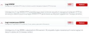 profesjonalne usługi IT - Logi WWW