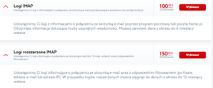 Logi poczty IMAP