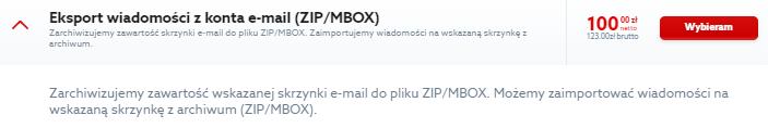Eksport wiadomości z konta e-mail