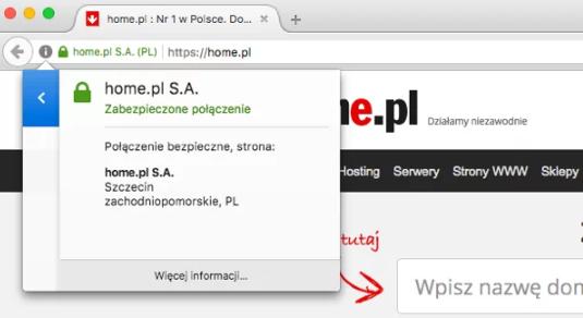 Certyfikat SSL chroni dane użytkowników strony WWW