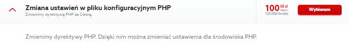 Zmiana konfiguracji serwera w pliku php.ini