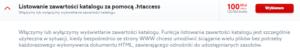 Profesjonalne uslugi IT - listowanie zawartości katalogu