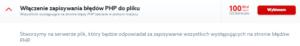Logowanie błędów do pliku PHP