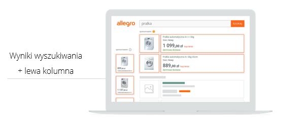 Gdzie w wynikach wyszukiwania wyświetlają się reklamy Allegro Ads?