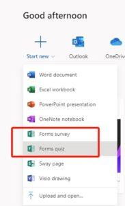 Tworzenie quizów w MS Forms