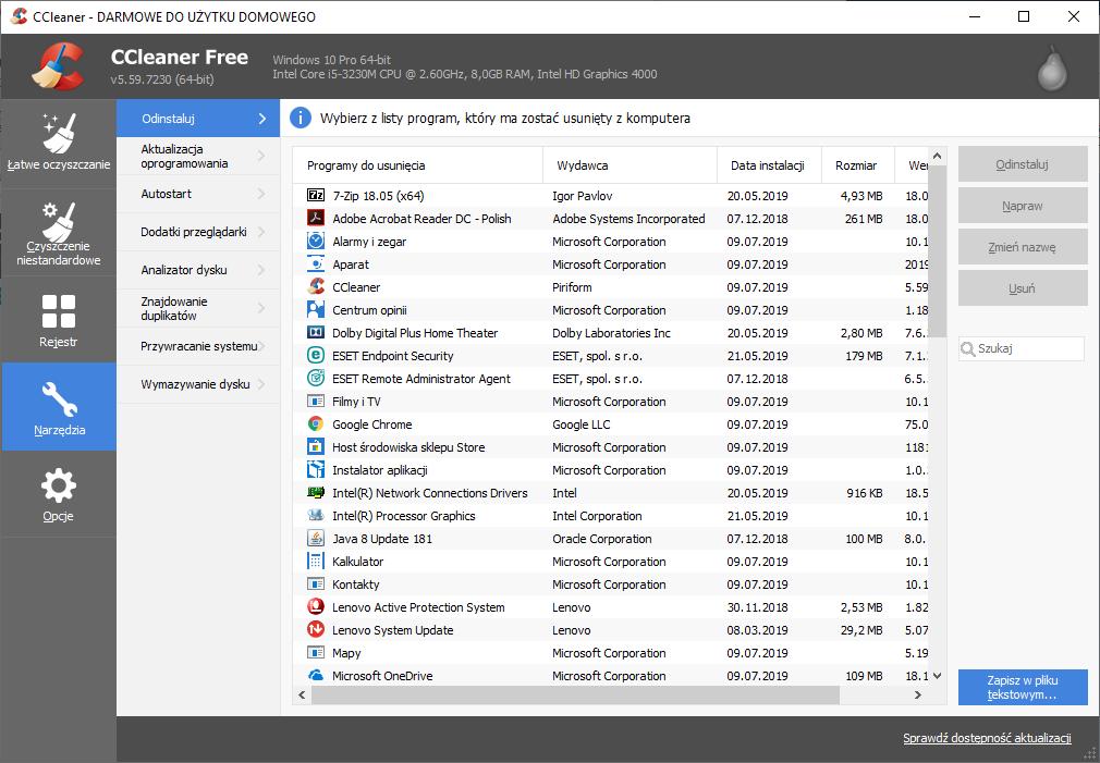 Czyszczenie CCleaner – wbudowane narzędzia i funkcjonalności
