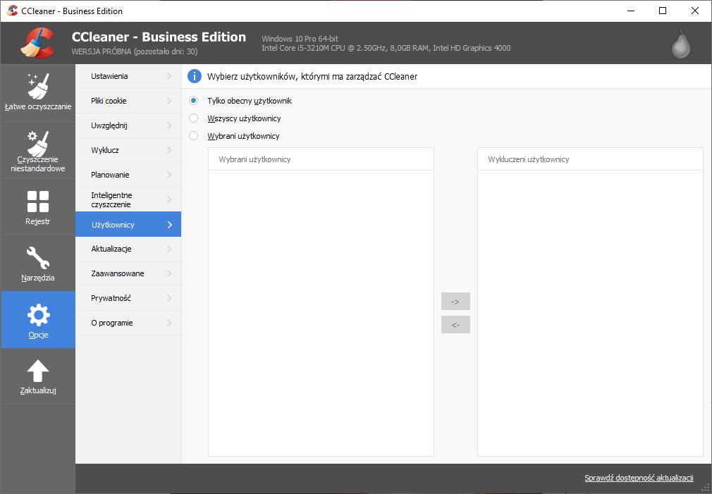 Funkcja zarządzania użytkownikami w CCleaner Business jest przydatna dla administratorów komputerów.
