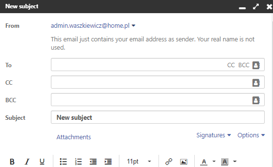 How to compose new email message?