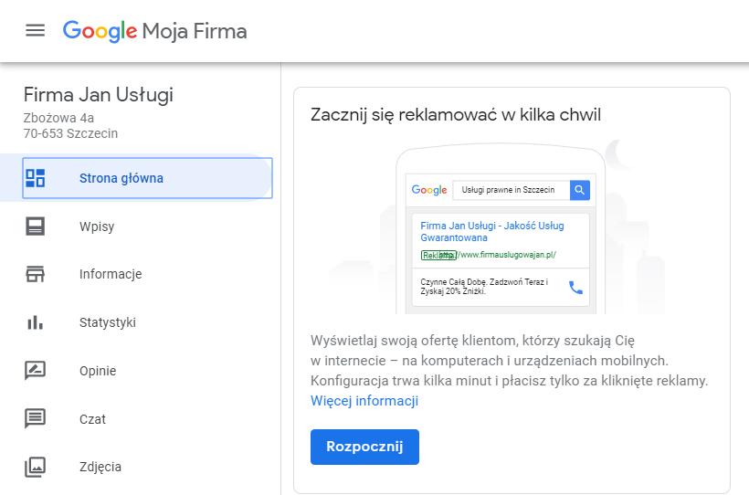 Panel Google Moja Firma, czyli jak zarządzać wizytówką dodaną do Google?
