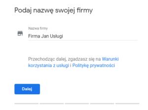 Google Business - Zarządzanie moją firmy w sieci Google