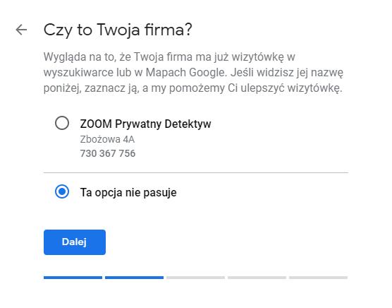 Istniejąca firma w Google - jak przejść do jej edycji?