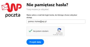 Odzyskiwanie hasła WP.pl