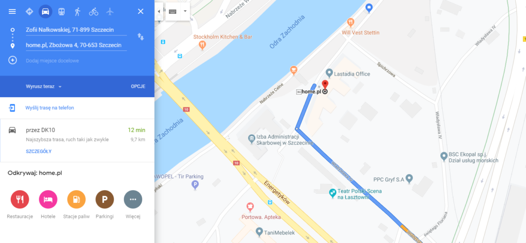 Mapa Google pomoże w lokalizacji Twojej firmy.