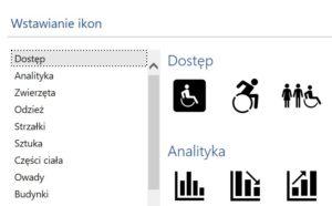 Dodatkowe ikony pakiet Office365