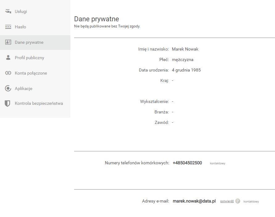Uzupełnij dane prywatne (numer telefonu i adres e-mail), które umożliwią później odzyskanie dostępu do konta e-mail.