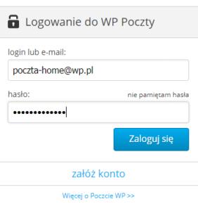 okno logowania poczta wp.pl
