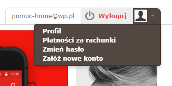 Odzyskiwanie hasła do konta WP.pl - wybierz sekcję: Zmień hasło (w prawym górnym rogu ekranu).