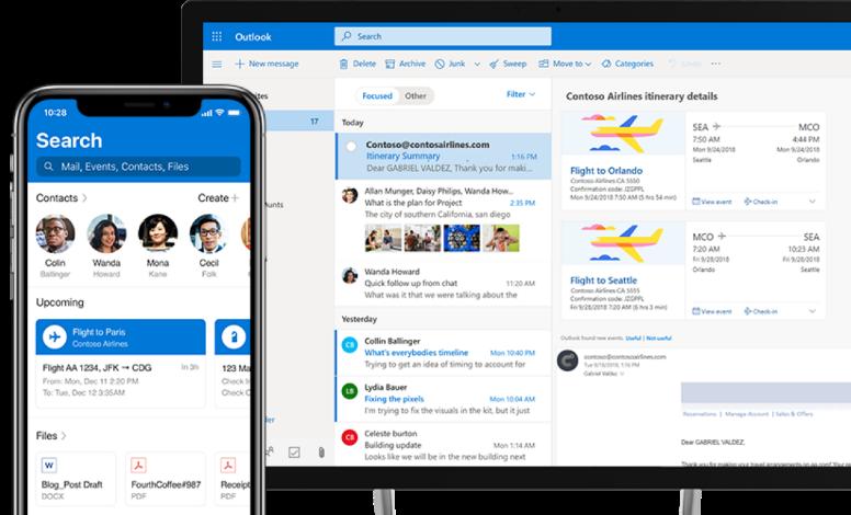 Zmiany w aplikacji Outlook