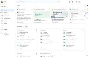 Priorytety w aplikacji Google Drive
