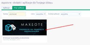 Promocje na produkty producentów Maxsote