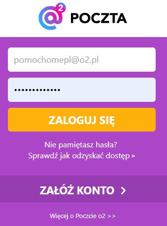 Jak zmienić hasło do Poczty O2.pl? Nie pamiętam hasła