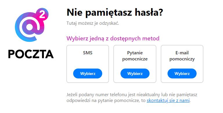Zmiana hasła do poczty O2.pl